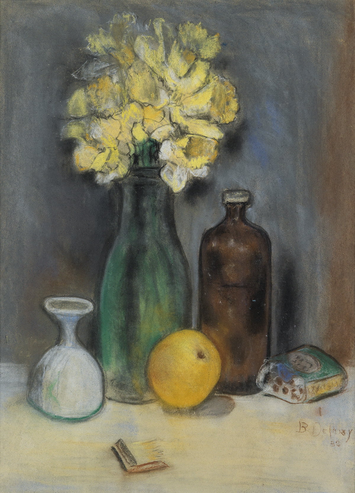 BEAUFORD-DELANEY-(1901---1979)-Untitled-(Still-Life)