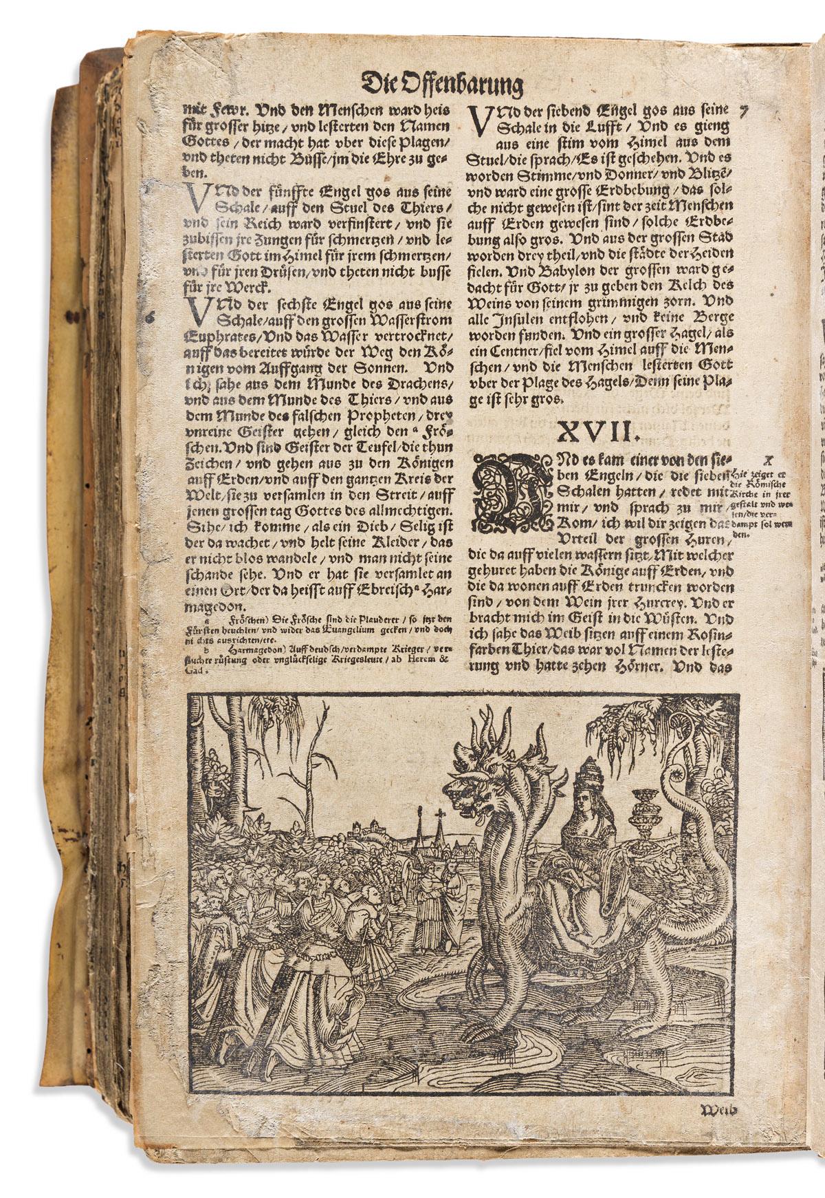 Bible, German, trans. Martin Luther (1483-1546) Biblia das ist: Die Gantze Heilige Schrifft Deudsch.