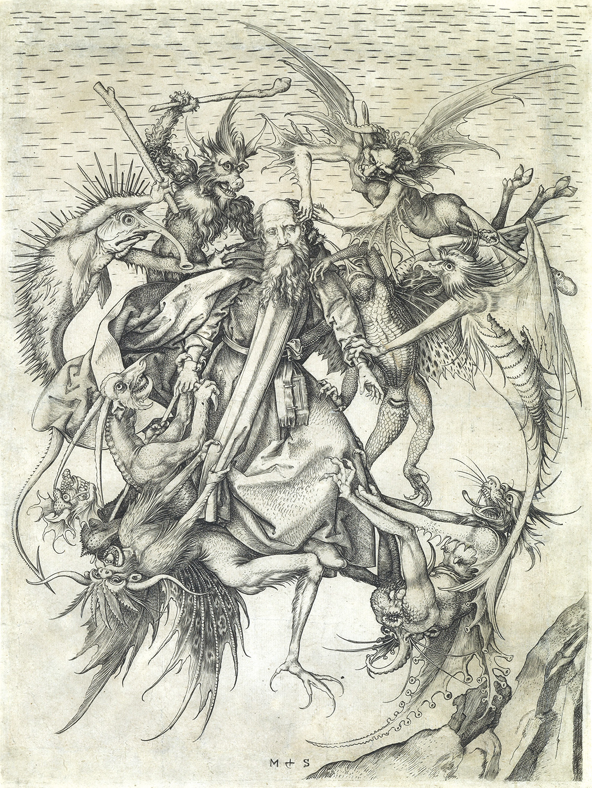 MARTIN-SCHONGAUER-The-Tribulations-of-St-Anthony