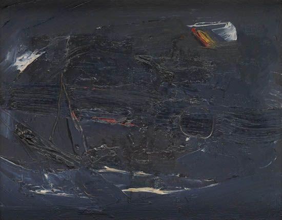 (ART.) SIMPSON, MERTON. Untitled abstract.