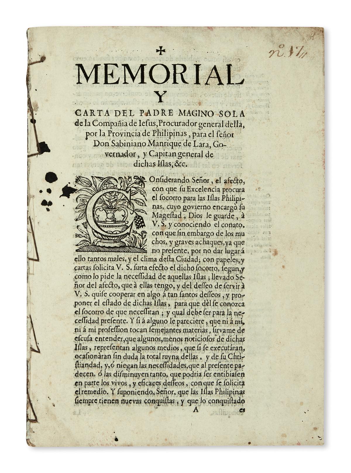 PHILIPPINES--SOLÁ-MAGINO-S-J-Memorial-y-Carta-del-Padre-Magi