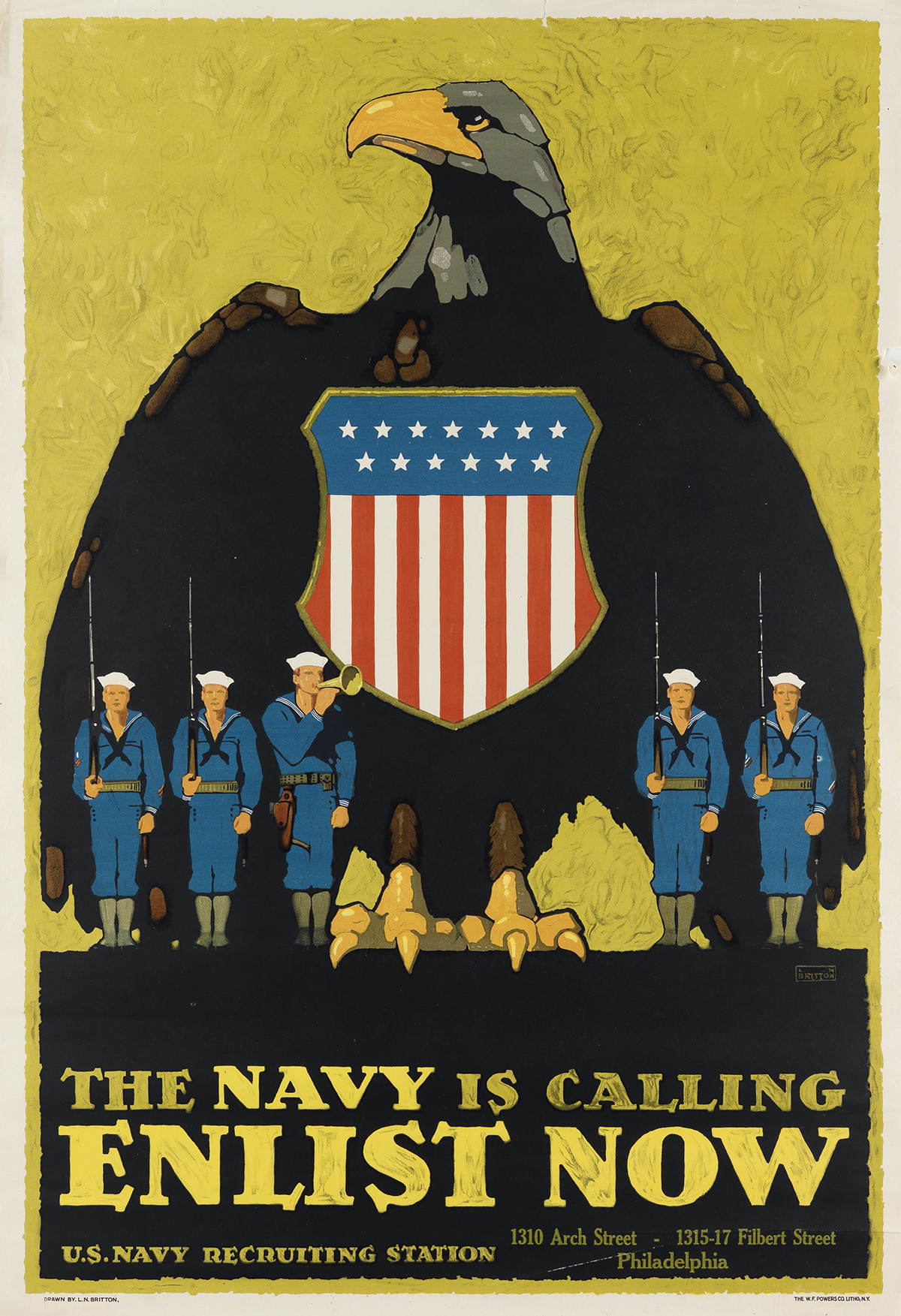LN-BRITTON-(1858-1934)-THE-NAVY-IS-CALLING--ENLIST-NOW-Circa