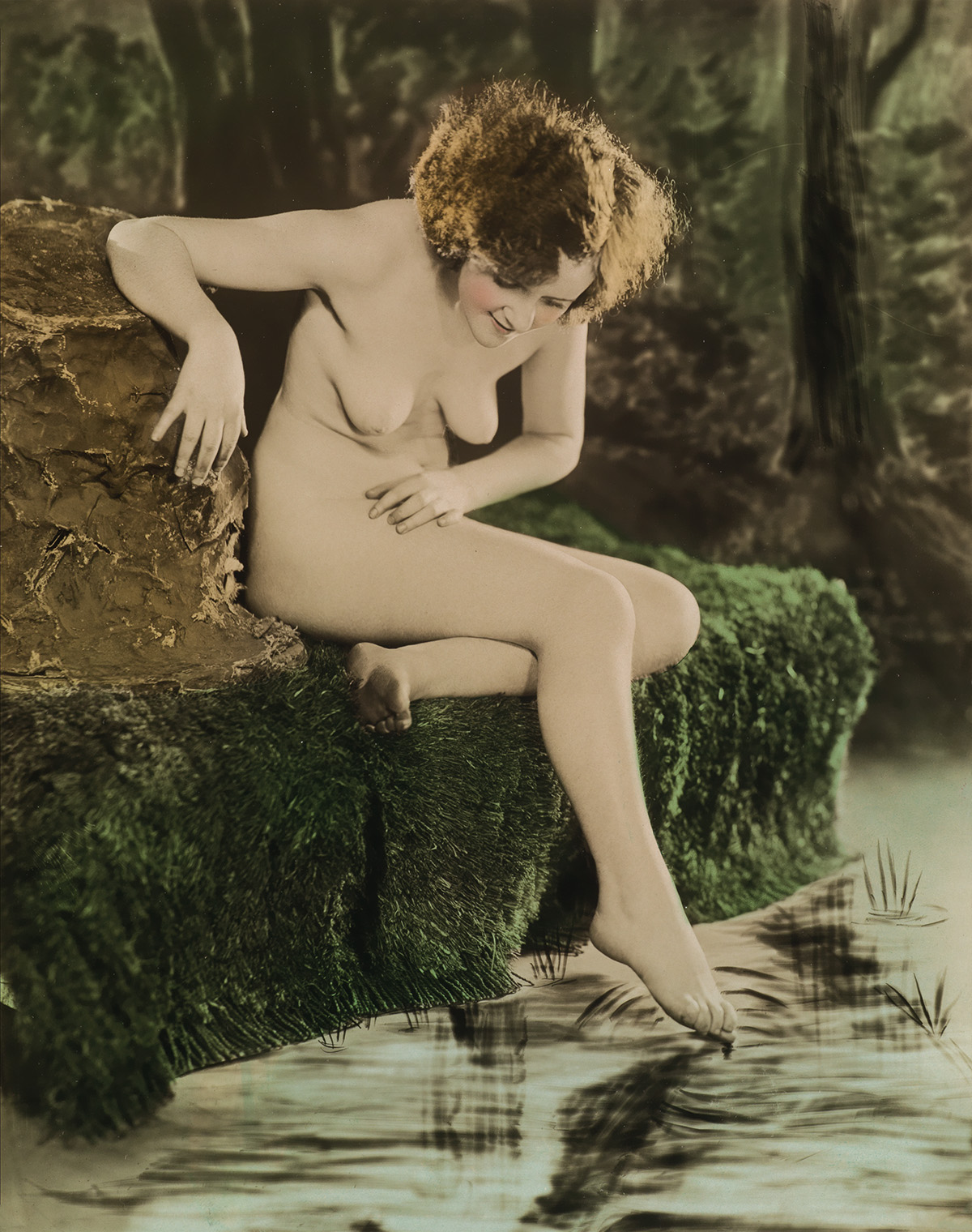 (NUDES)-A-group-of-14-artfully-and-vibrantly-hand-colored-fe