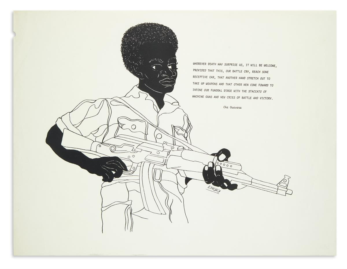(BLACK-PANTHERS)-Douglas-Emory;-artist-Wherever-death-may-su
