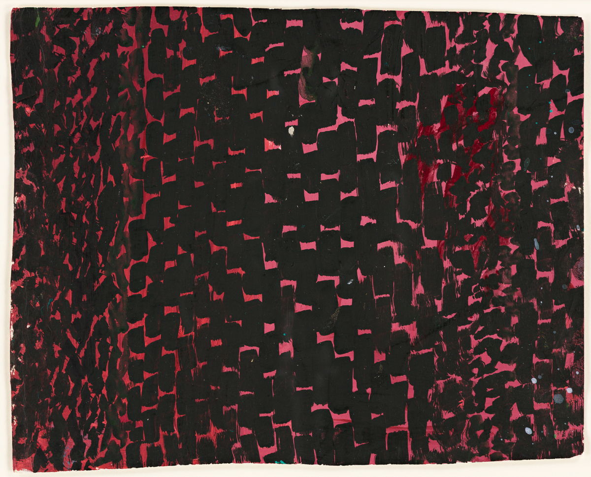 ALMA W. THOMAS (1891 - 1978) Untitled (Composition in Dark Blue Black and Deep Pink).