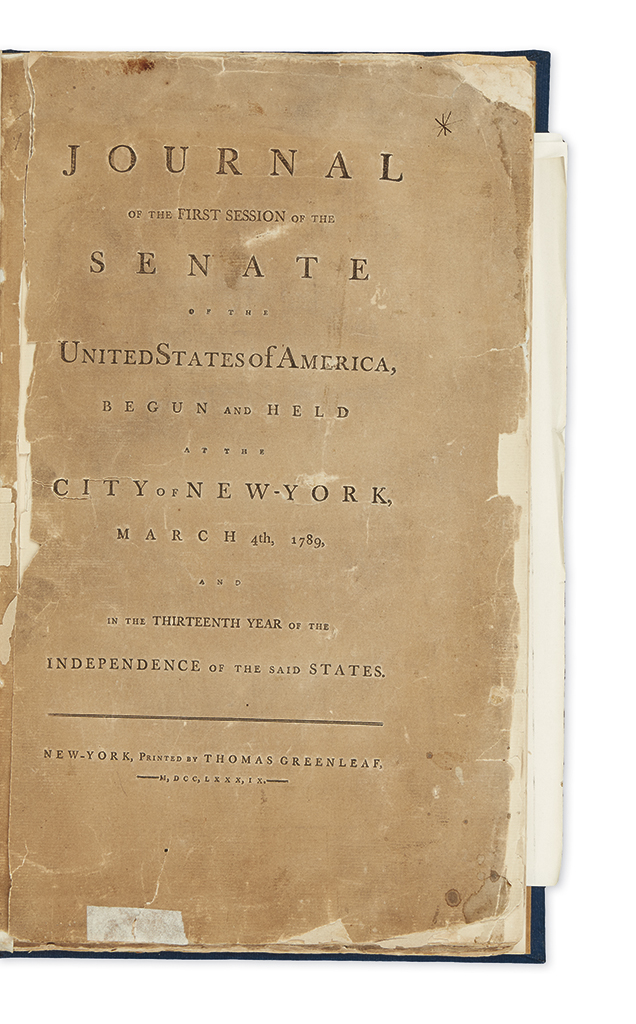 (LAW.) Journal of the First Session of the Senate of the United States of America.