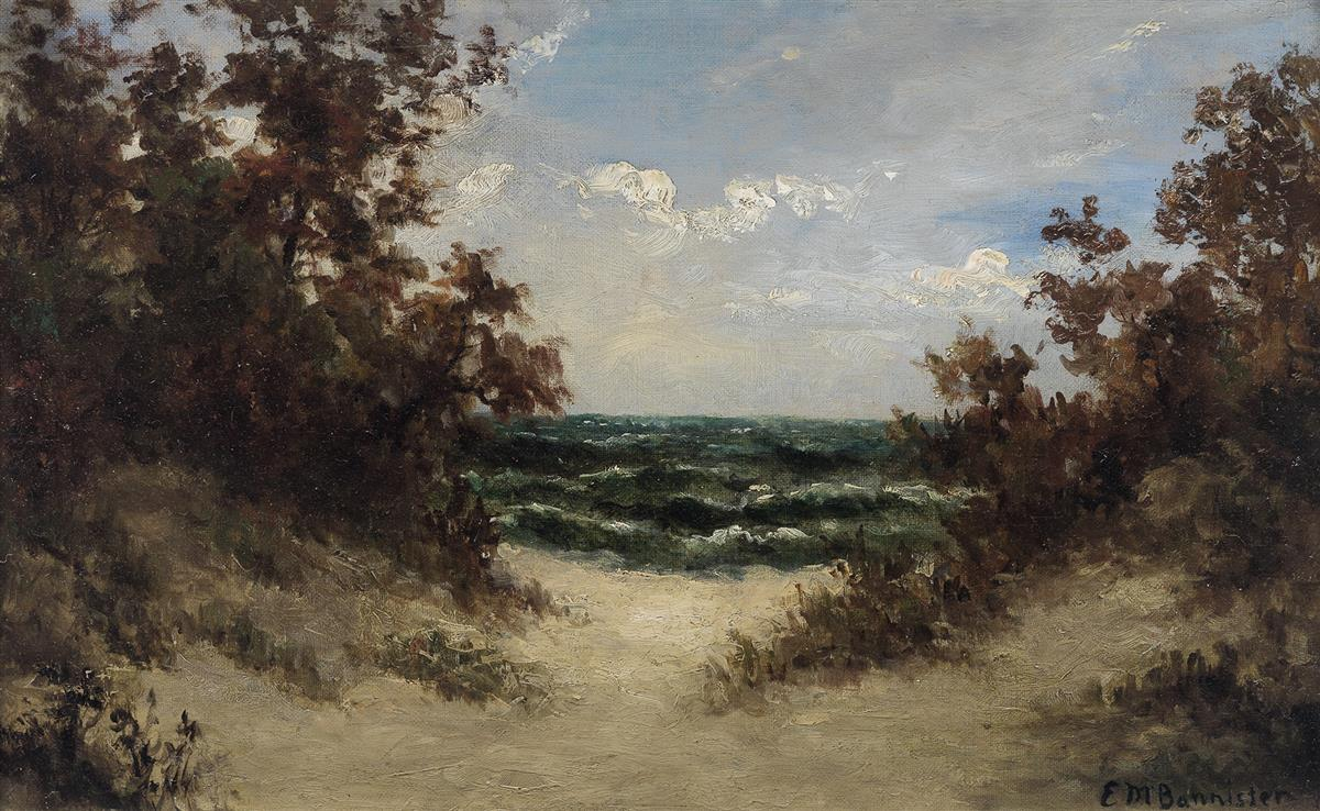 EDWARD M. BANNISTER (1828 - 1901) Path to the Sea.