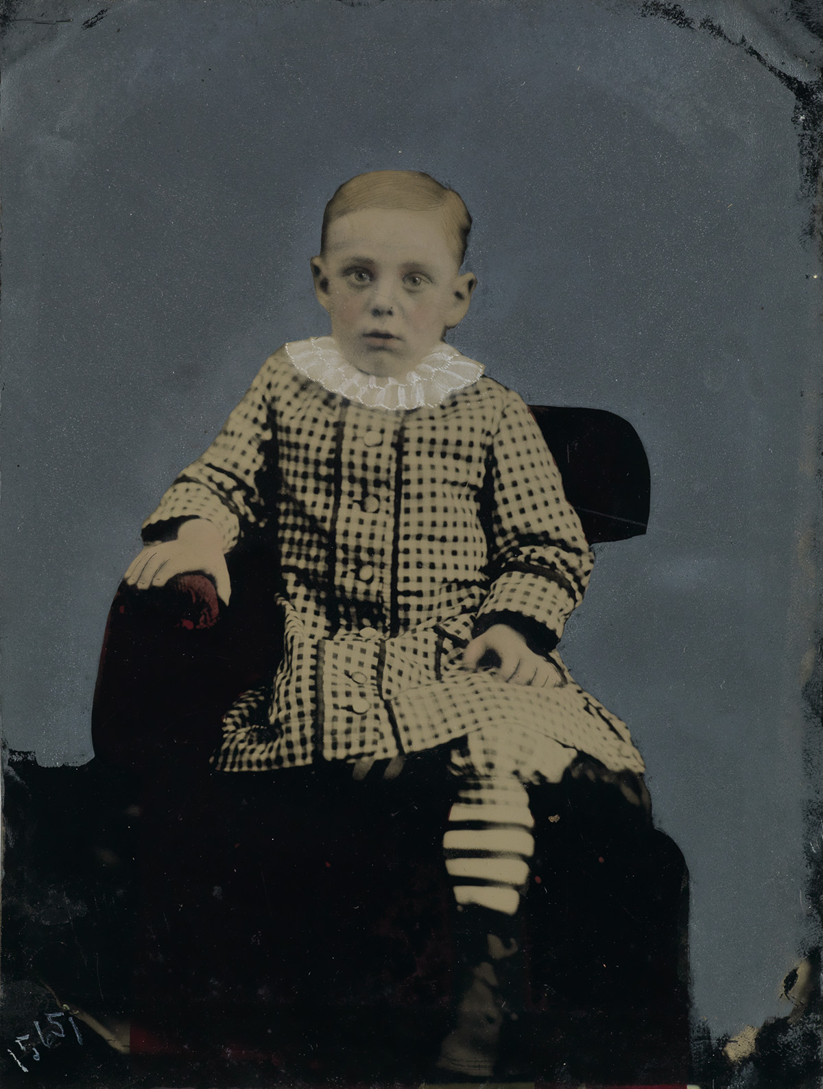 (19th-CENTURY--TINTYPES)-A-group-of-8-uncased-tintype-portra