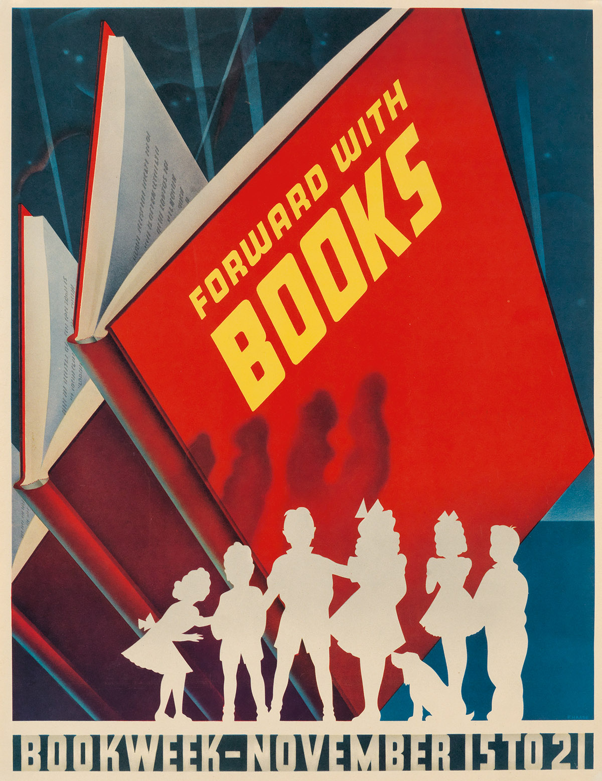 VARIOUS-ARTISTS-BOOK-WEEK-Group-of-6-posters-1942-1948-Sizes