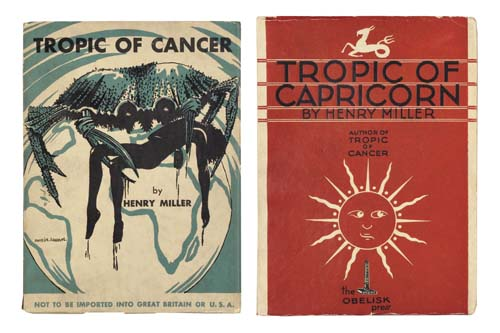MILLER-HENRY--Tropic-of-Cancer--1934--Tropic-of-Capricorn--1