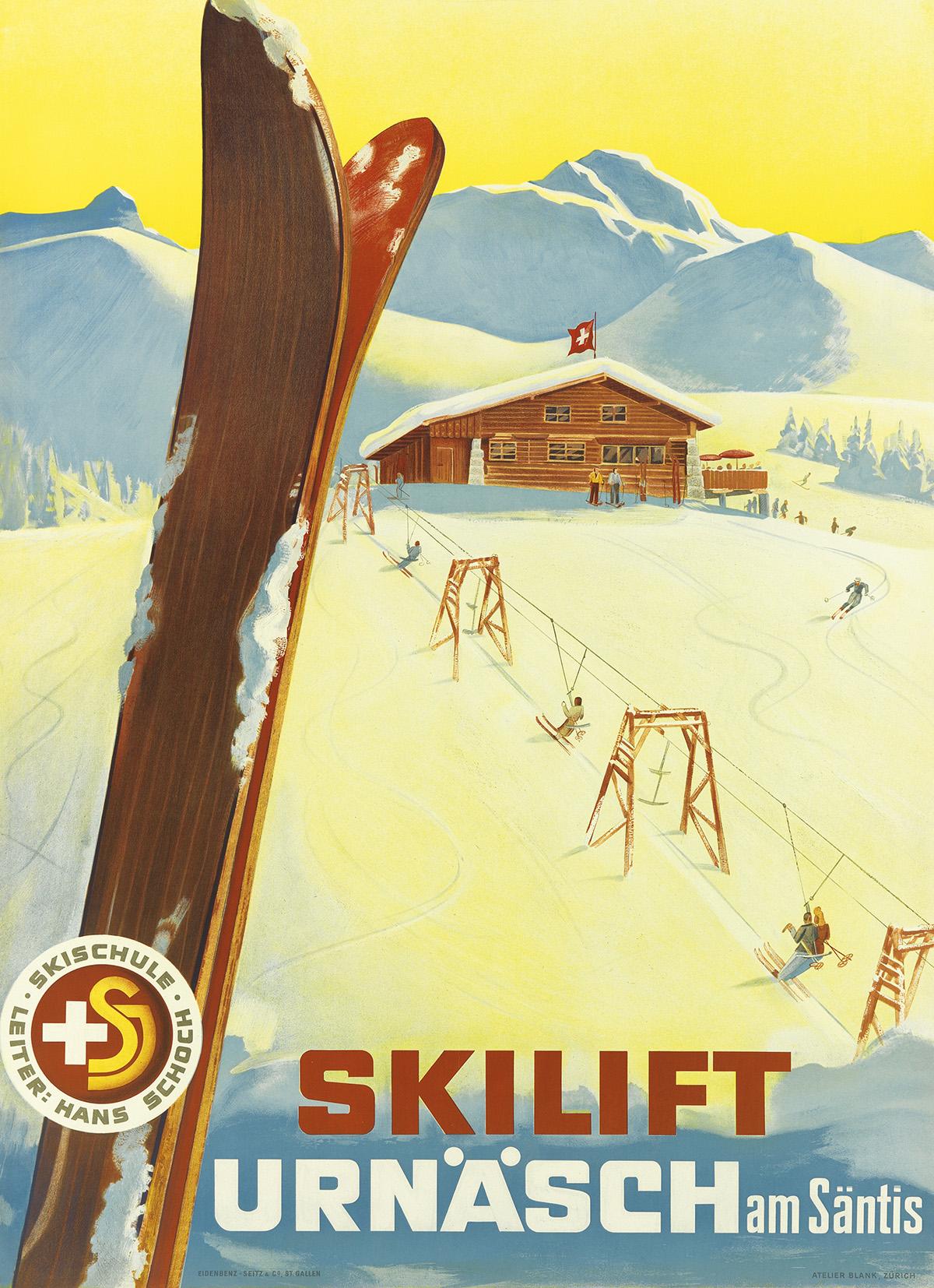 ATELIER-BLANK-SKILIFT-URNÄSCH--AM-SÄNTIS-1944-50x36-inches-1