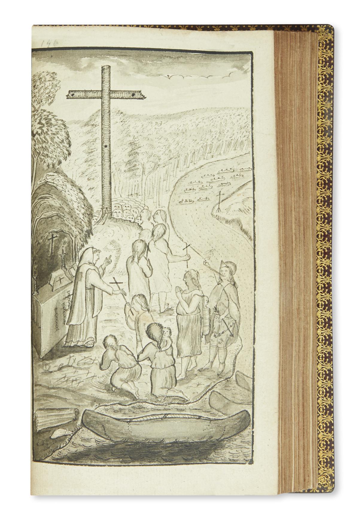 (CANADA.) Le Clerq, Chrestien. Nouvelle Relation de la Gaspesie, qui Contient les Moeurs & la Religion des Sauvages Gaspesiens