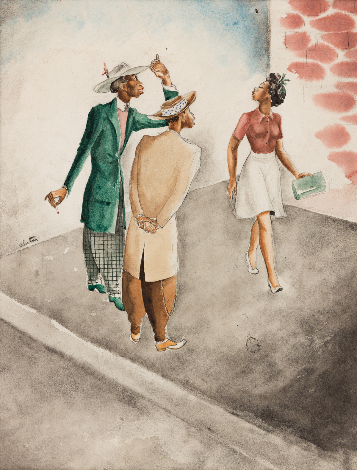 CHARLES ALSTON (1907 - 1977) Three Figures (Illustrations).