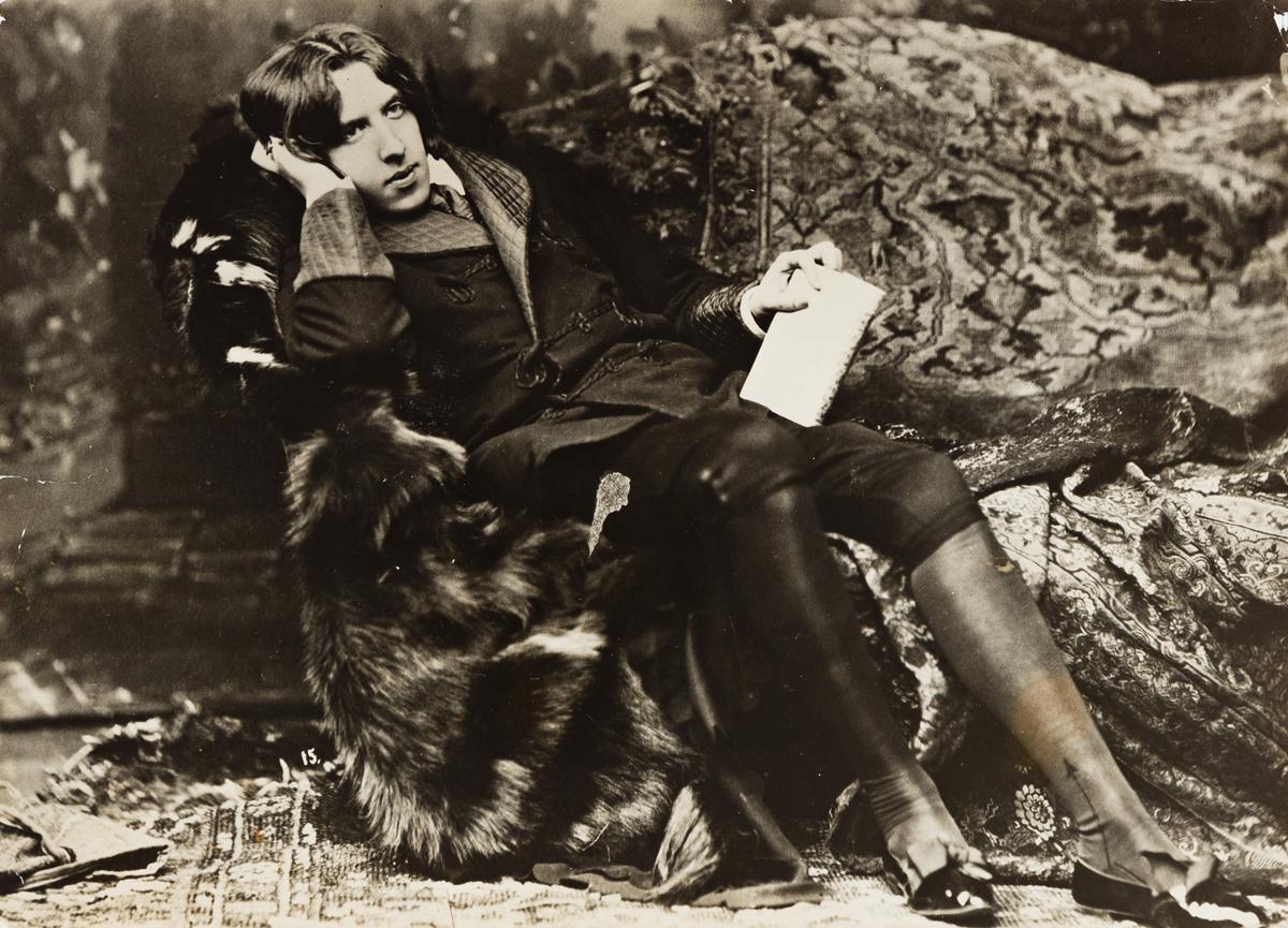 NAPOLEON SARONY (1821-1896) Portrait of Oscar Wilde.