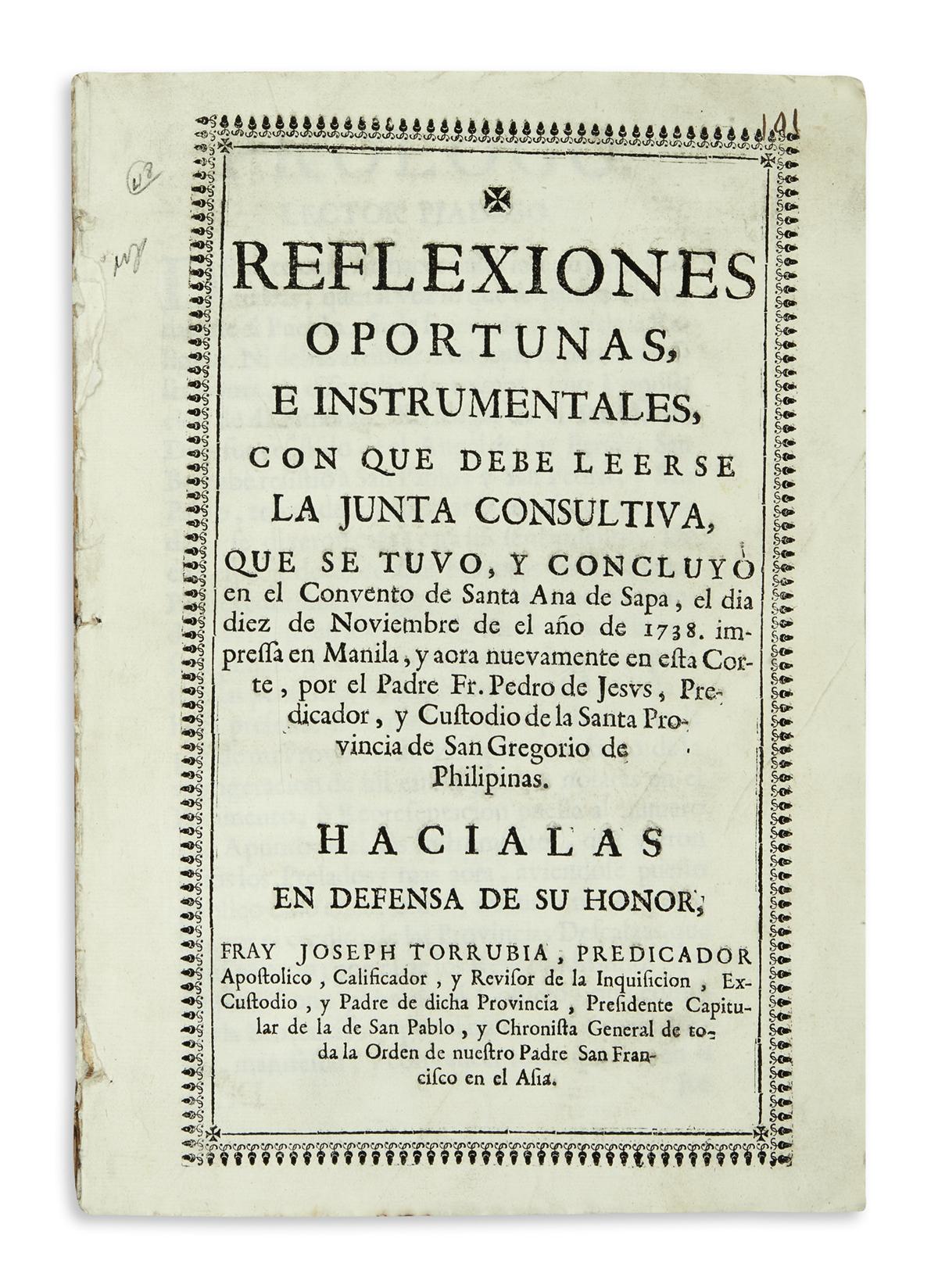 PHILIPPINES--TORRUBIA-JOSÉ;-and-PEDRO-DE-JESÚS-Reflexiones-O