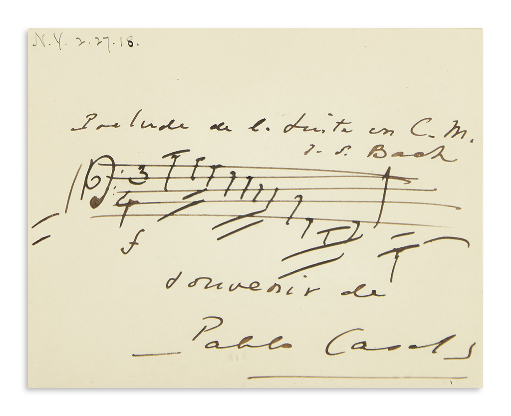 CASALS-PABLO-Two-items-each-Signed-Autograph-Musical-Quotati