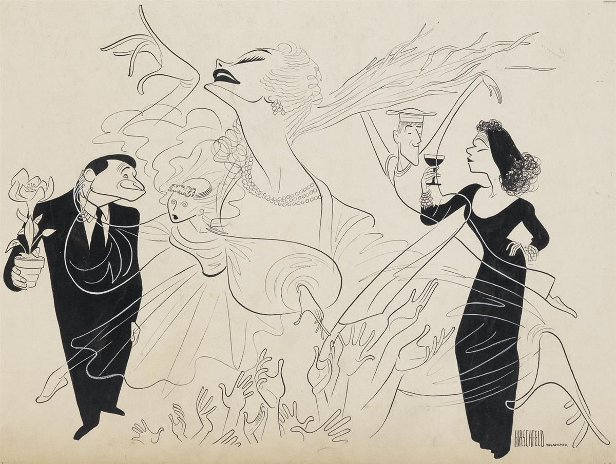 AL-HIRSCHFELD-(THEATER--BROADWAY)-Great-to-Be-Alive