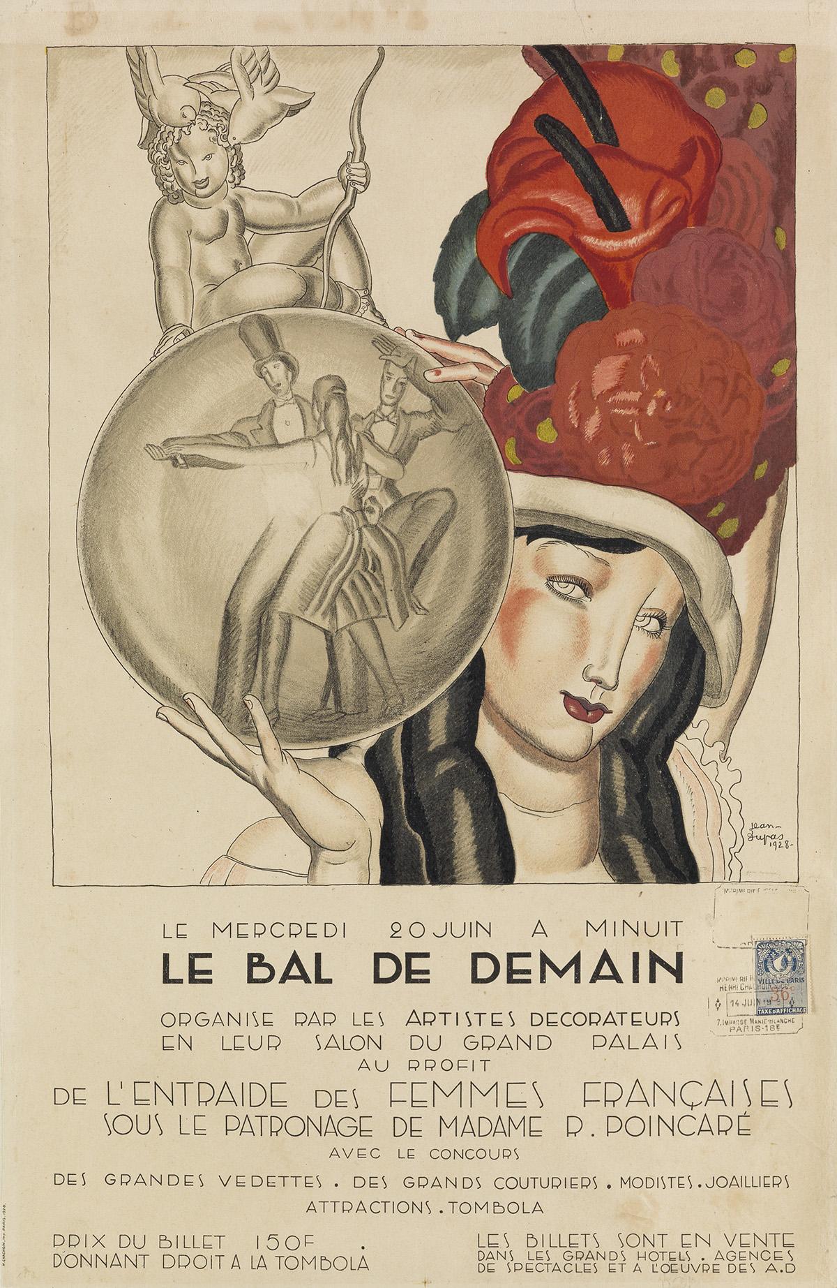 JEAN-DUPAS-(1882-1964)-LE-BAL-DE-DEMAIN-1928-23x15-inches-59x38-cm-H-Chachoin-Paris