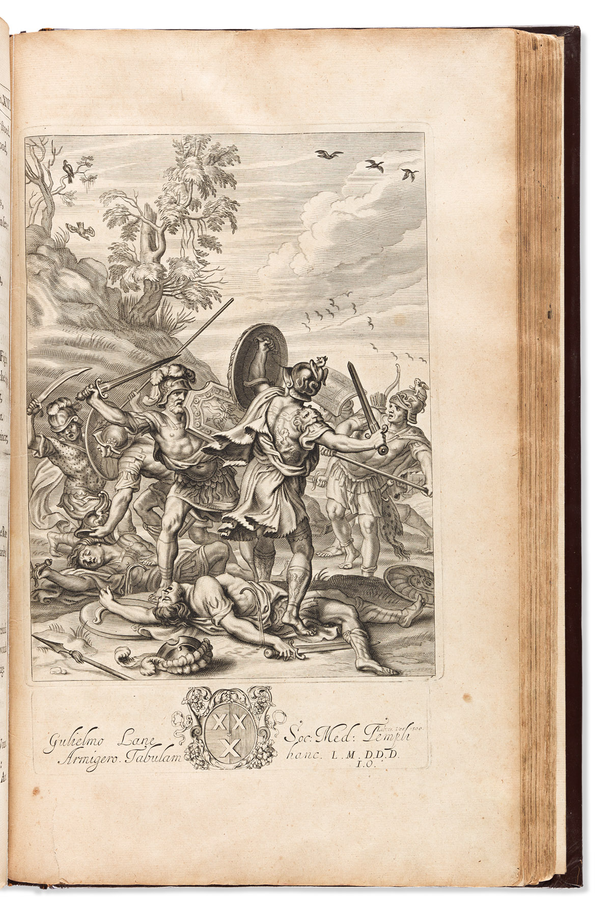 Homer. John Ogilby (1600-1676) trans. Homer his Iliads Translated, Adornd with Sculpture, and Illustrated with Annotations.