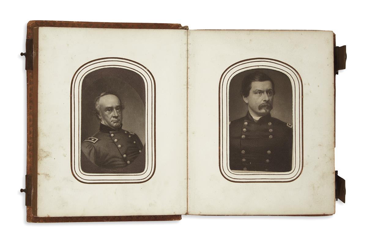 (EPHEMERA)-Album-of-small-portrait-engravings-of-Union-and-C