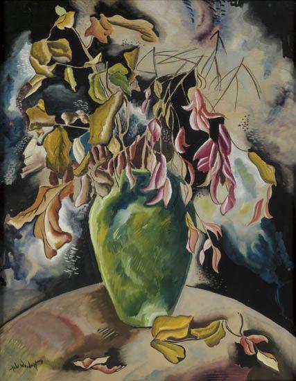 HALE WOODRUFF (1900 - 1980) Untitled (Still Life of Flowers).