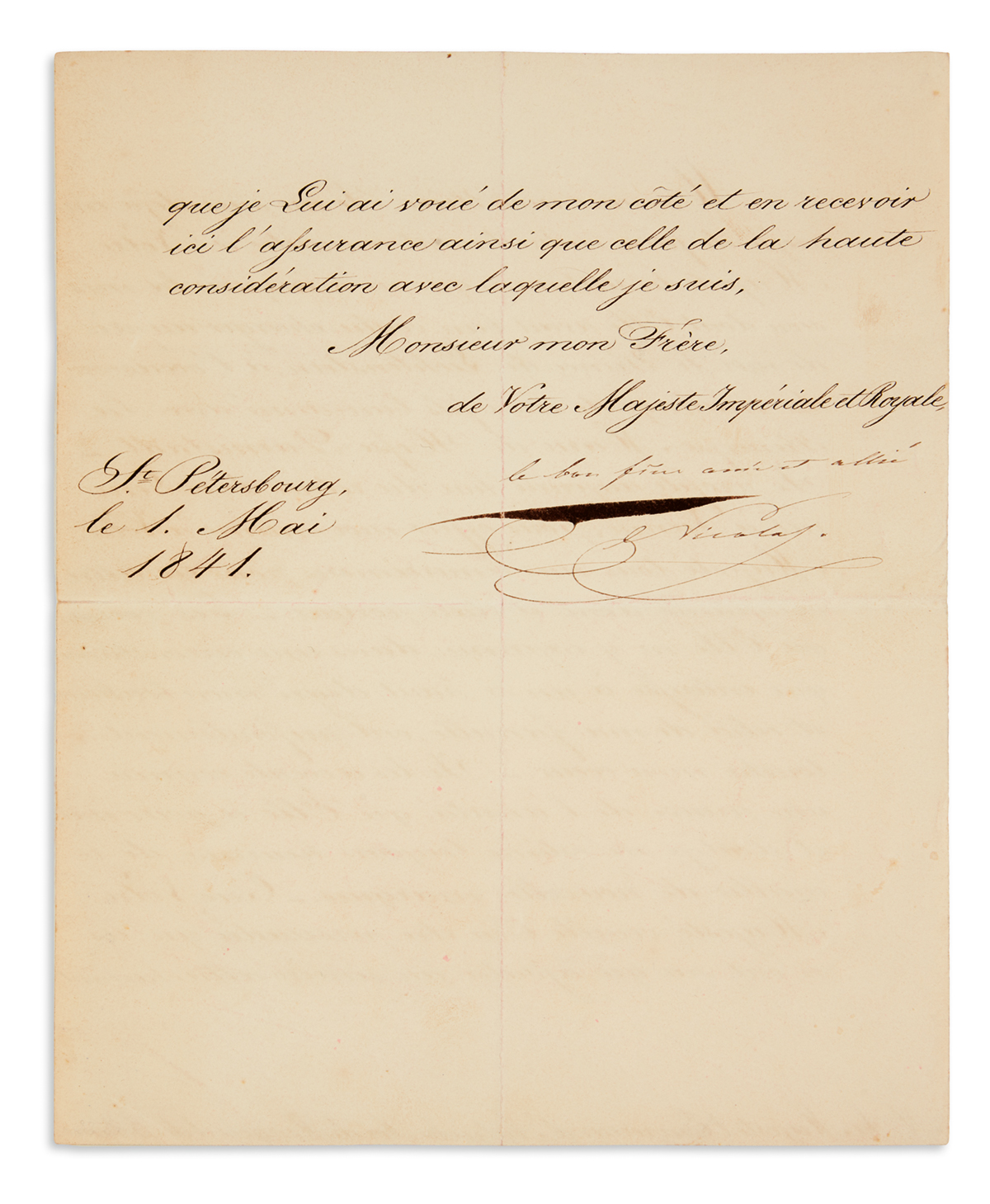 NICHOLAS-I;-EMPEROR-OF-RUSSIA-Letter-Inscribed-and-Signed-th
