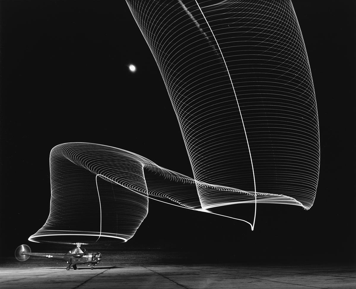 ANDREAS-FEININGER-(1906-1999)-Helicopter-Take-Off