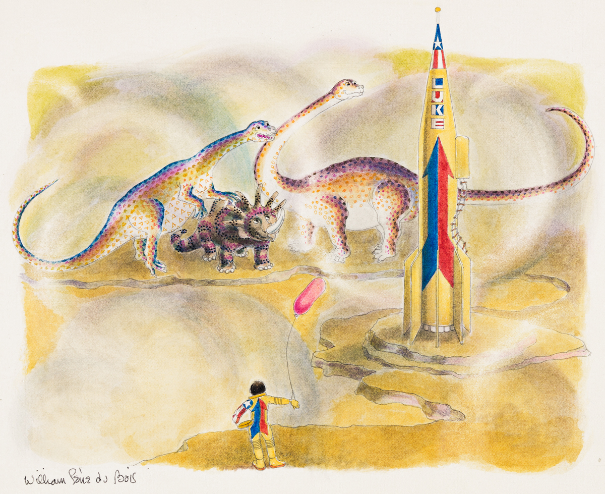 WILLIAM PÈNE DU BOIS (1916-1993) Luke with Dinosaurs. [CHILDRENS]