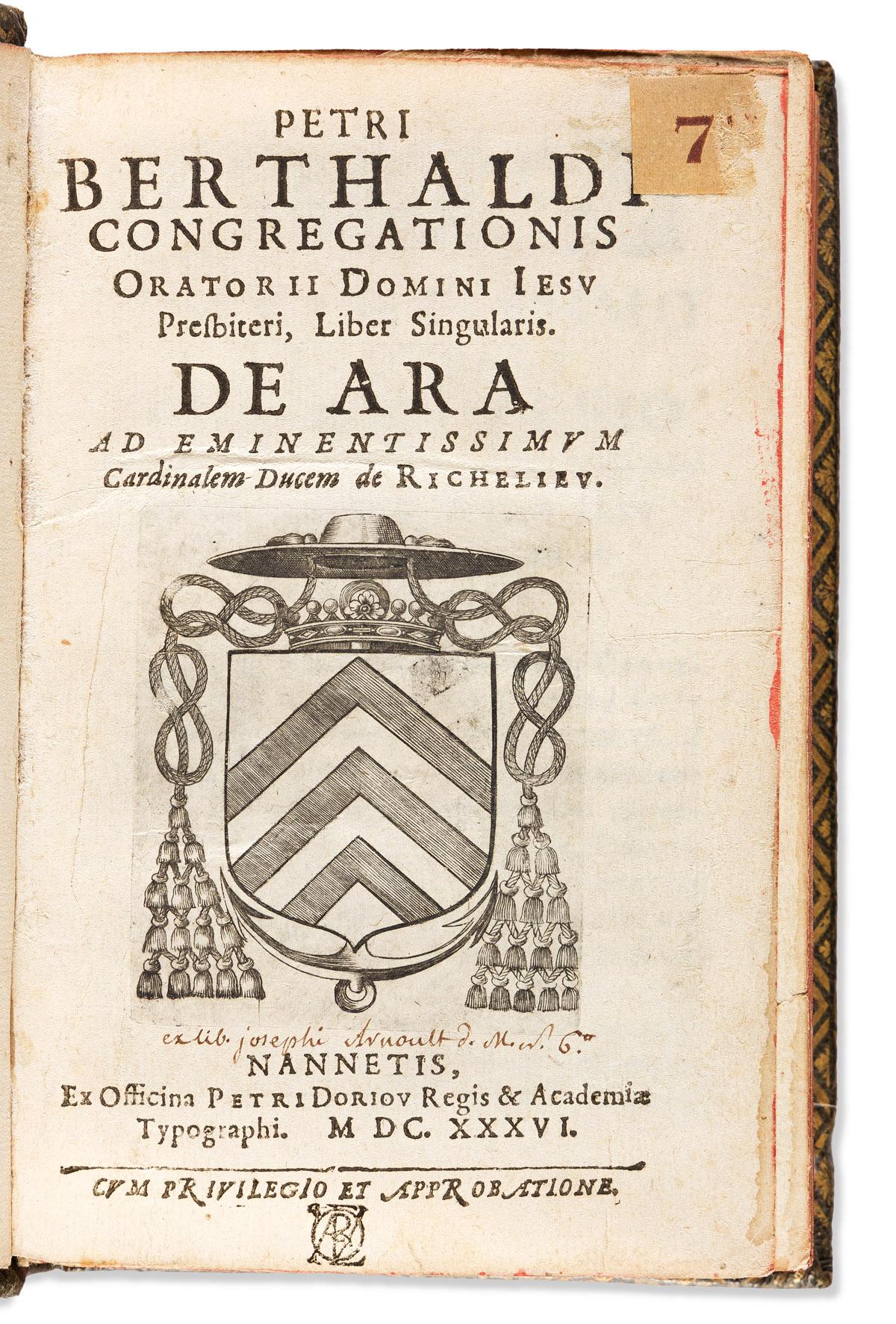 Berthault, Pierre (1600-1681) Liber Singularis de Ara.