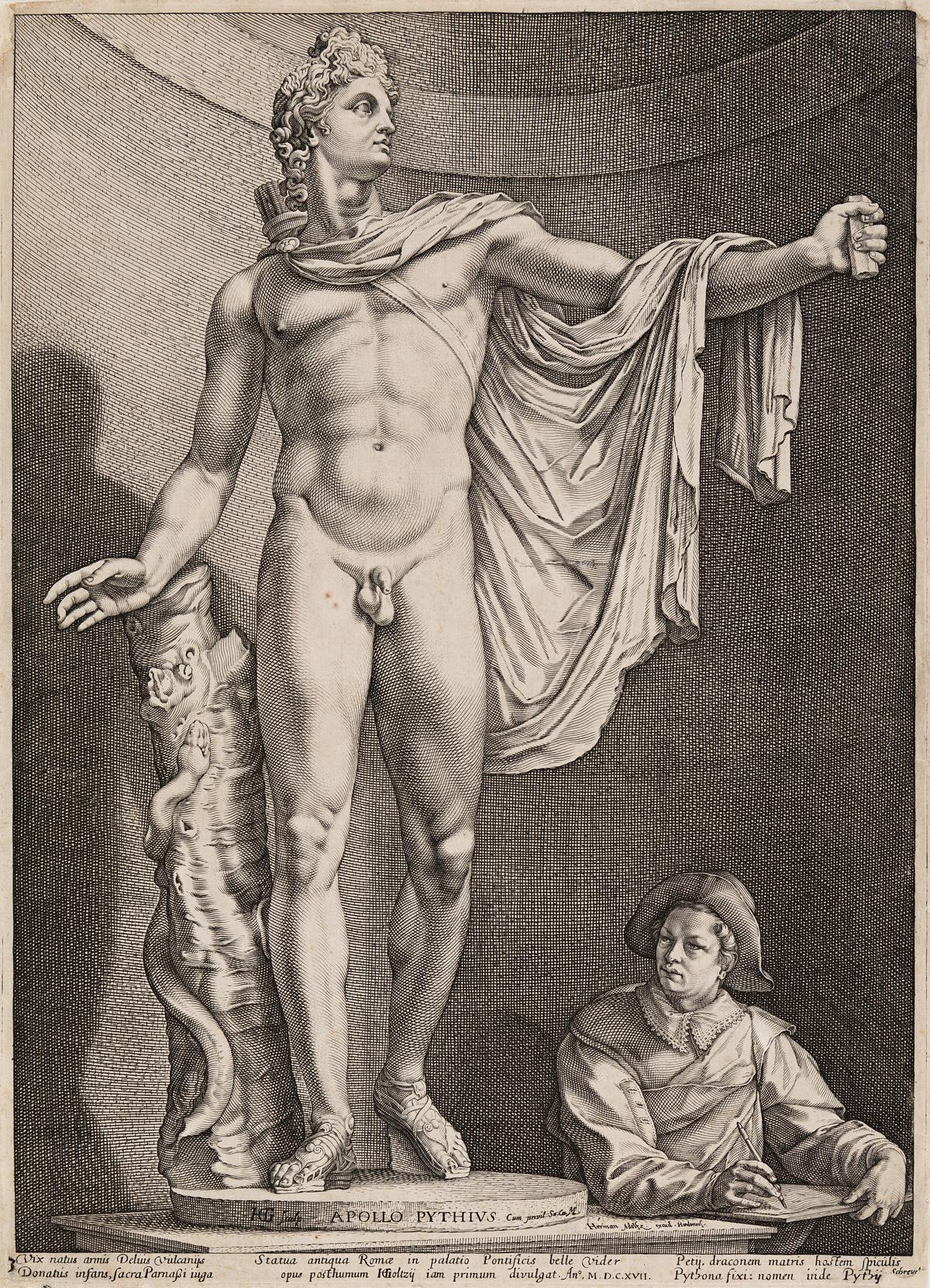 HENDRICK GOLTZIUS Apollo Belvedere.