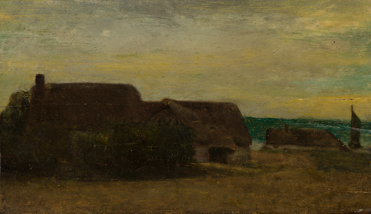 ALBERT PINKHAM RYDER Houses by the Sea.
