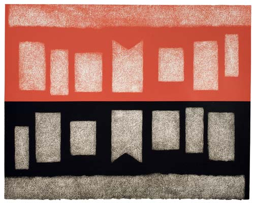 DOROTHY DEHNER Abstract Composition in Red and Black.