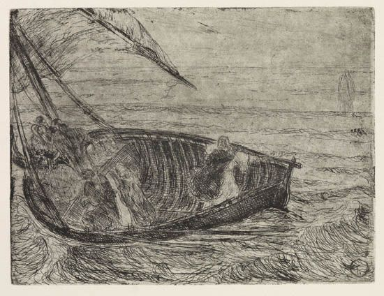 HENRY OSSAWA TANNER (1859 - 1937) Group of 4 etchings.