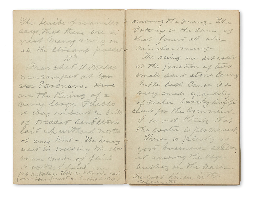 (UTAH.) [Cogswell, Milton?] Diary of an officer on Macombs Exploring Expedition.
