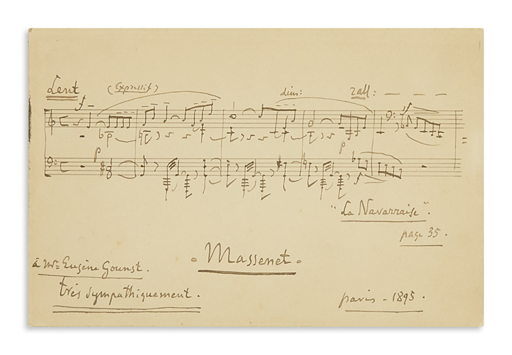 MASSENET-JULES-Autograph-Musical-Quotation-Signed-and-Inscri