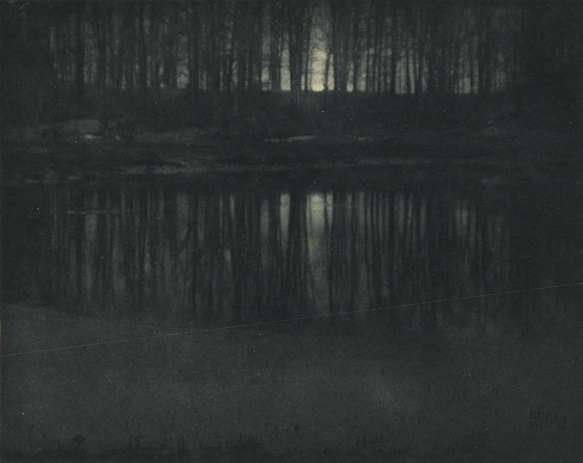 EDWARD-STEICHEN-(1879-1973)-Moonlight-The-Pond--Road-Into-th
