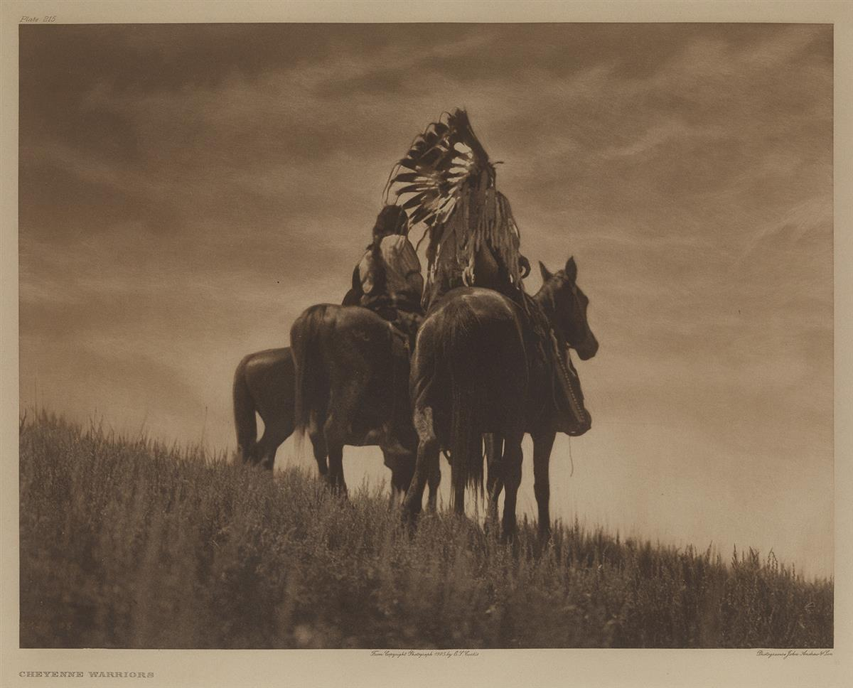 EDWARD-S-CURTIS-(1868-1952)-Group-of-6-large-format-photogra