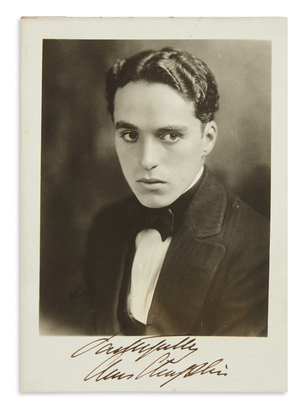 CHAPLIN-CHARLIE-Photograph-Signed-and-Inscribed-Faithfully--