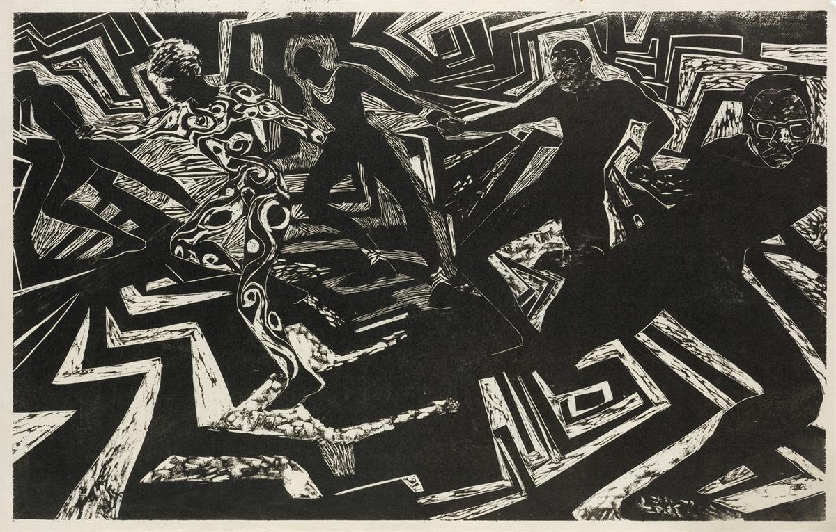 BARBARA JONES-HOGU (1938 -  ) Untitled.