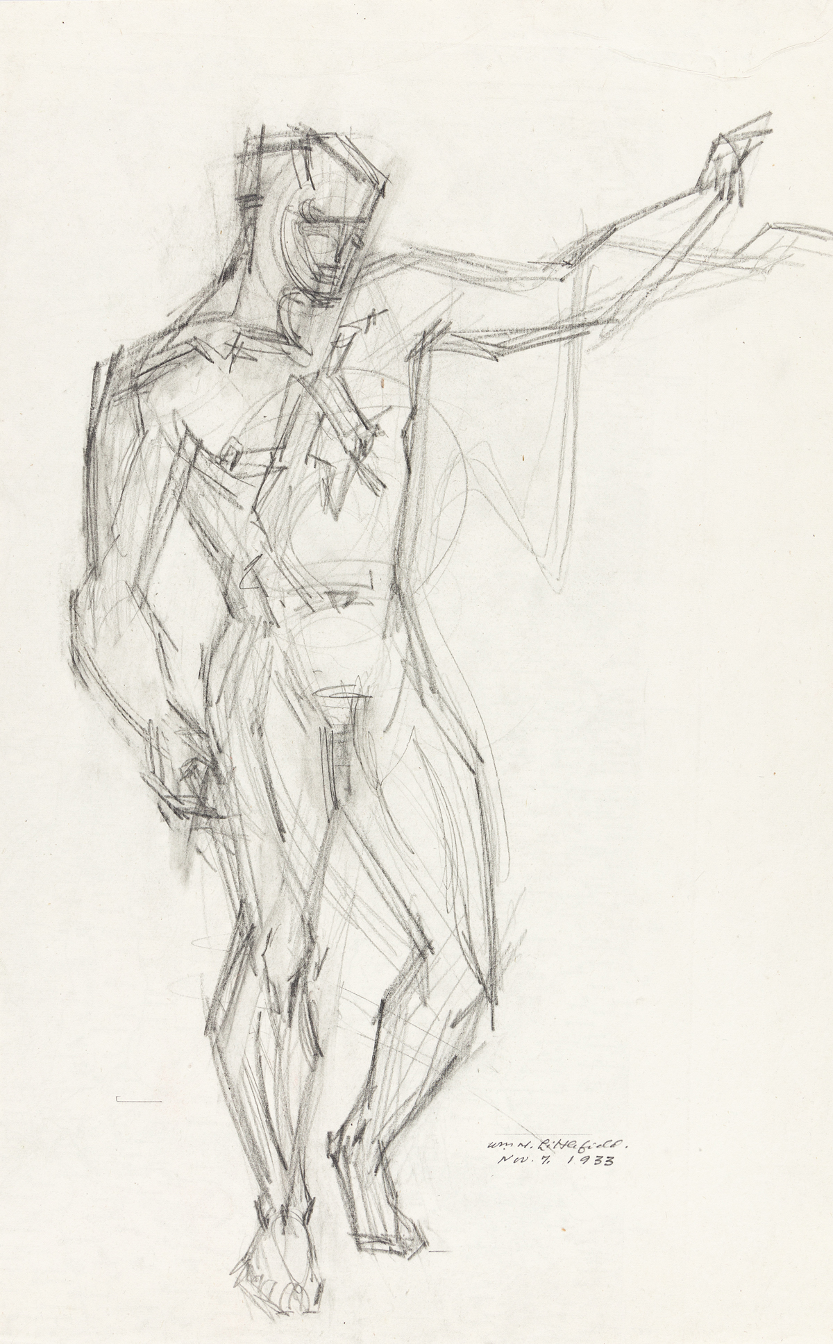 WILLIAM LITTLEFIELD (1902 - 1969) Two drawings.