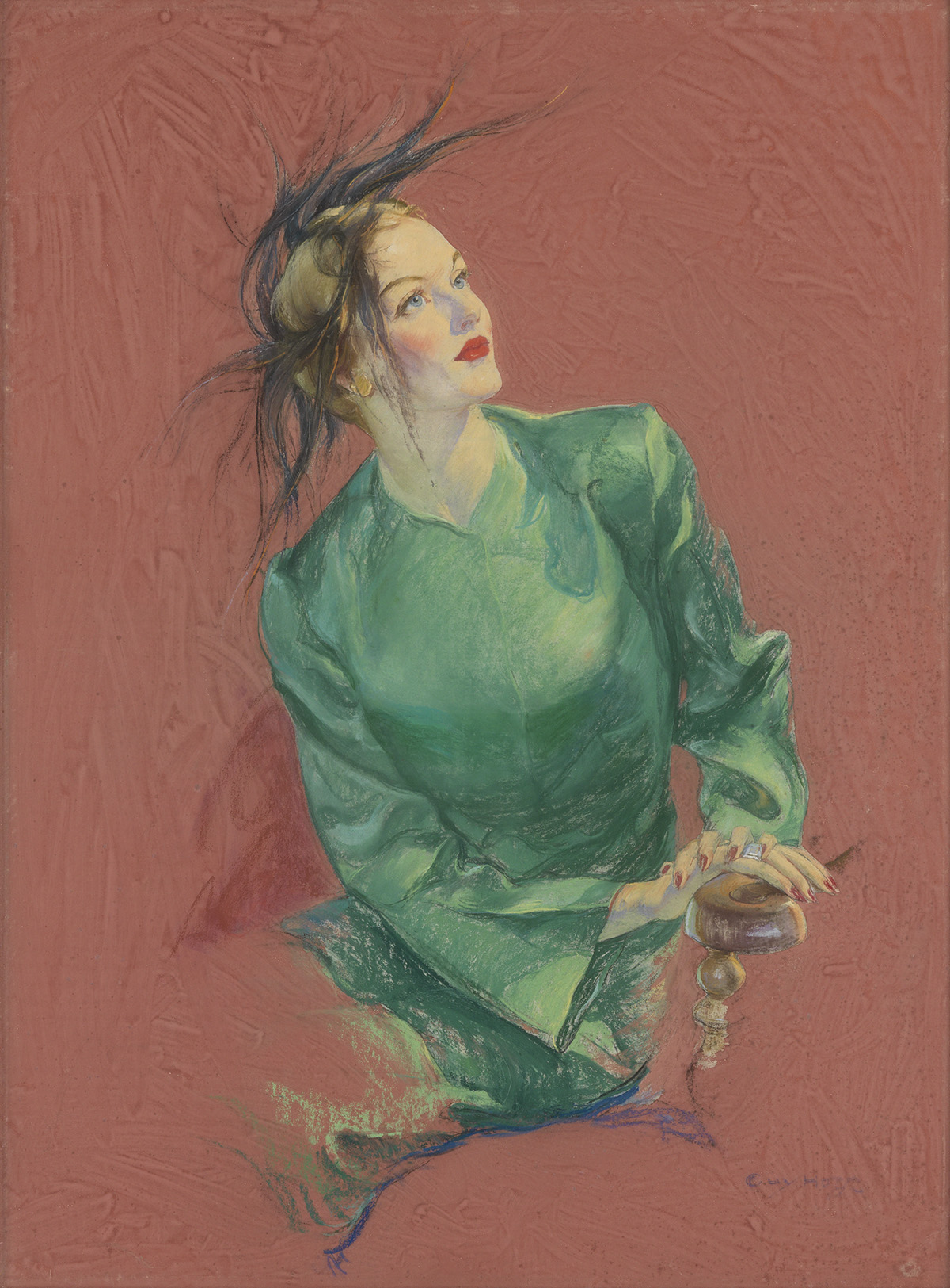 FASHION-GUY-HOFF-Woman-in-Green-Wearing-Fascinator