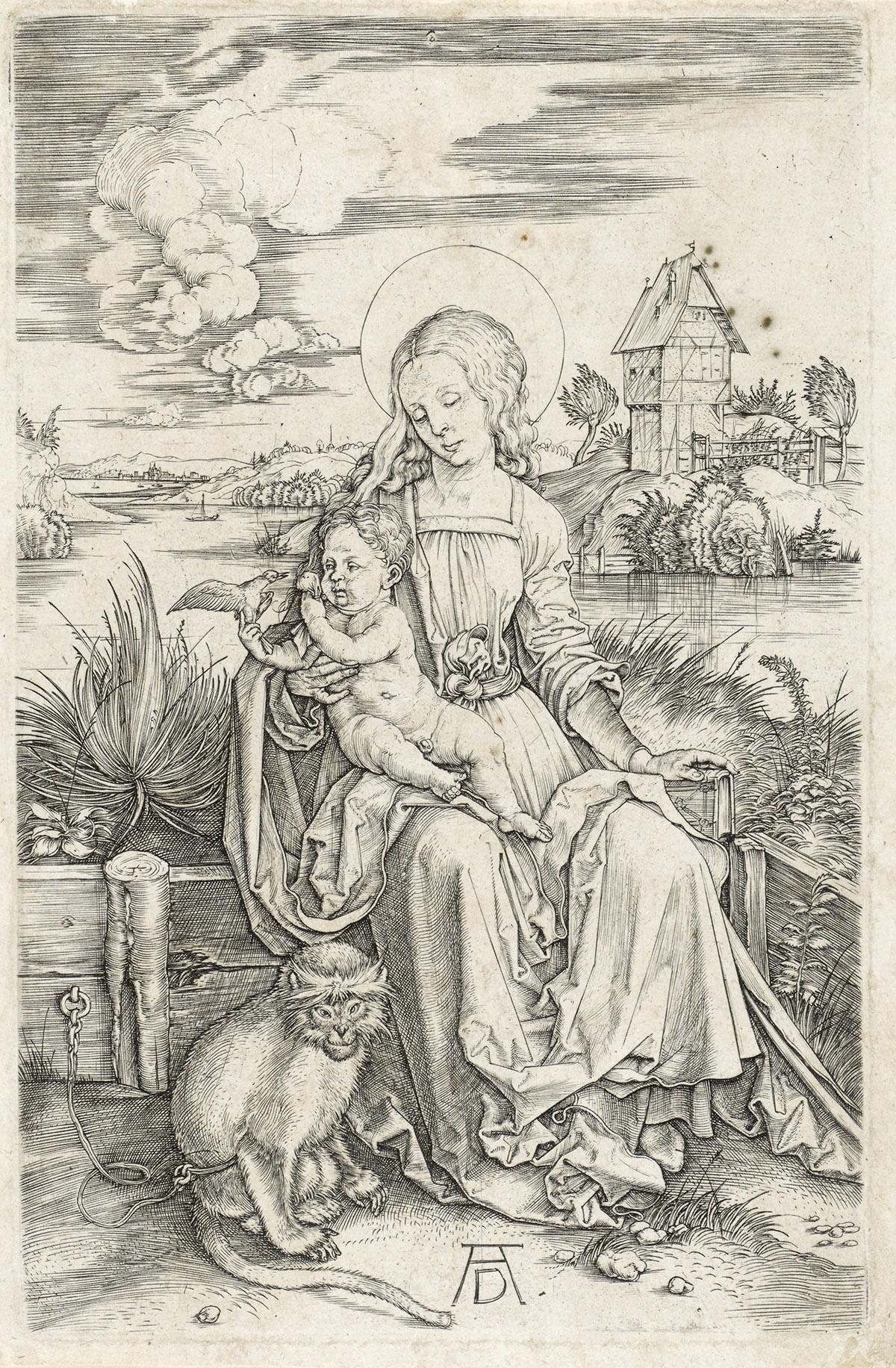 ALBRECHT DÜRER The Virgin and Child with the Monkey.