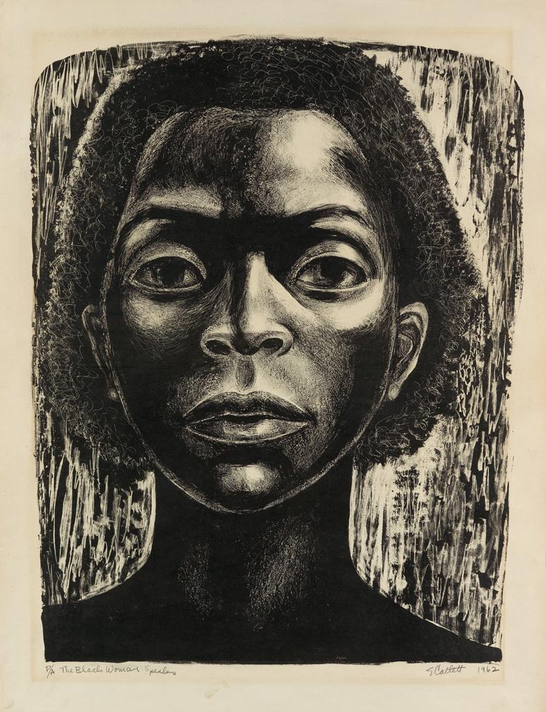 ELIZABETH CATLETT (1915 - 2012) The Black Woman Speaks.