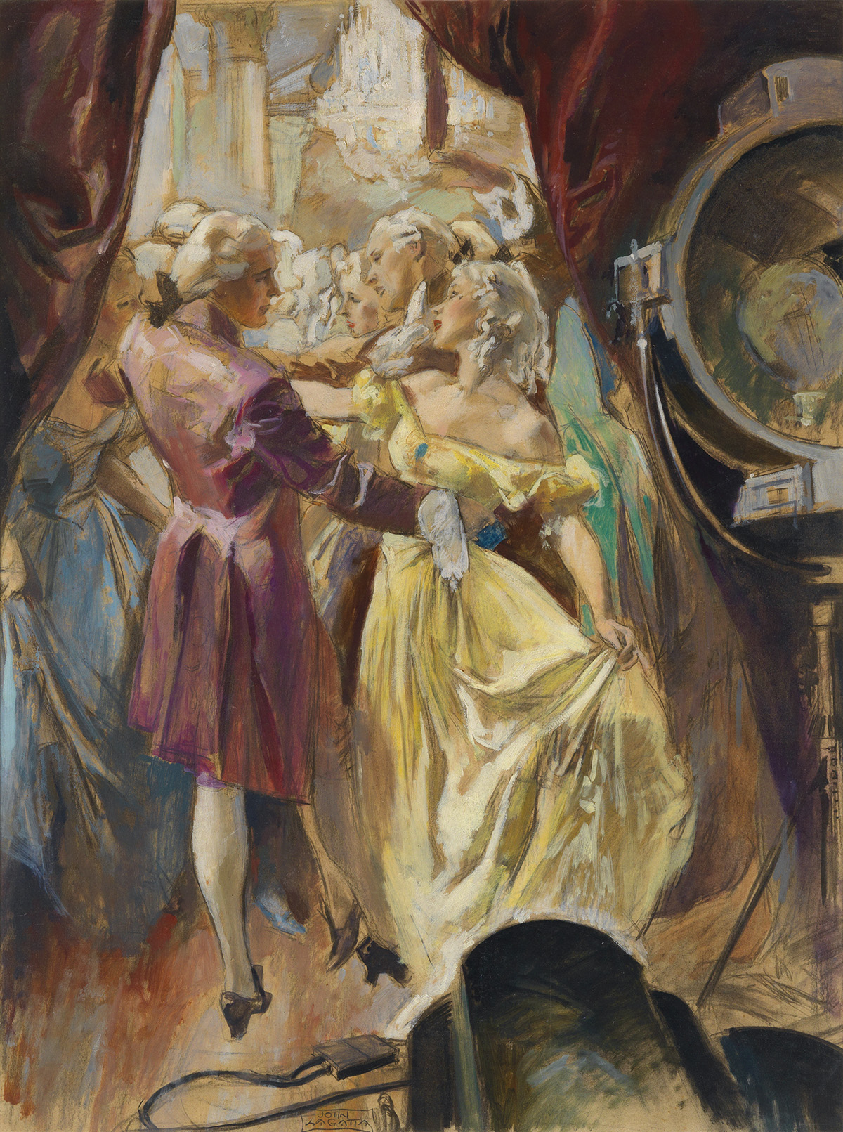 SATURDAY EVENING POST JOHN LAGATTA. Dancing the minuet before a camera and the hundred people behind it isnt the same as just dancing