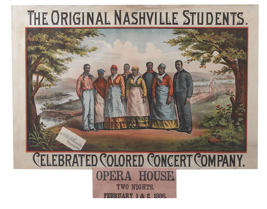 (MINSTRELSY.) The Original Nashville Students.