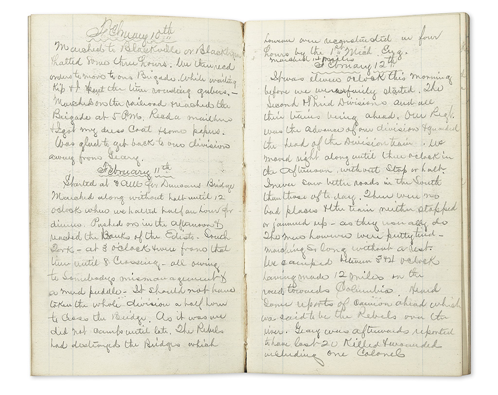 (CIVIL WAR--NEW JERSEY.) Murphy, Franklin. Diary of an officer in Shermans Carolinas Campaign.