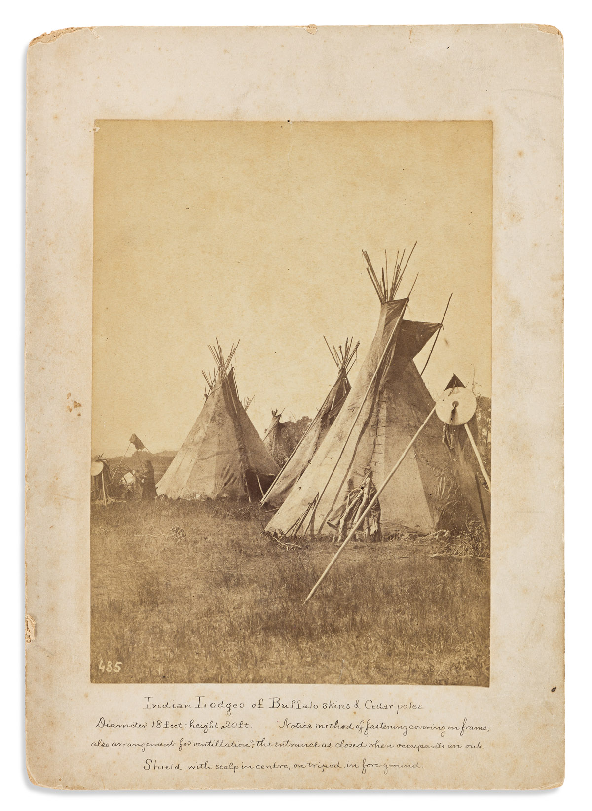 (AMERICAN INDIANS--PHOTOGRAPHS.) William Soule. Indian Lodges of Buffalo Skins & Cedar Poles.
