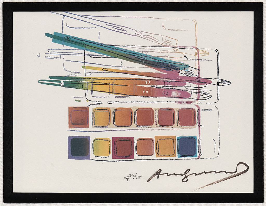 ANDY WARHOL Watercolor Paintkit with Brushes.