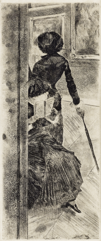 EDGAR DEGAS Au Louvre, la peinture, Mary Cassatt.