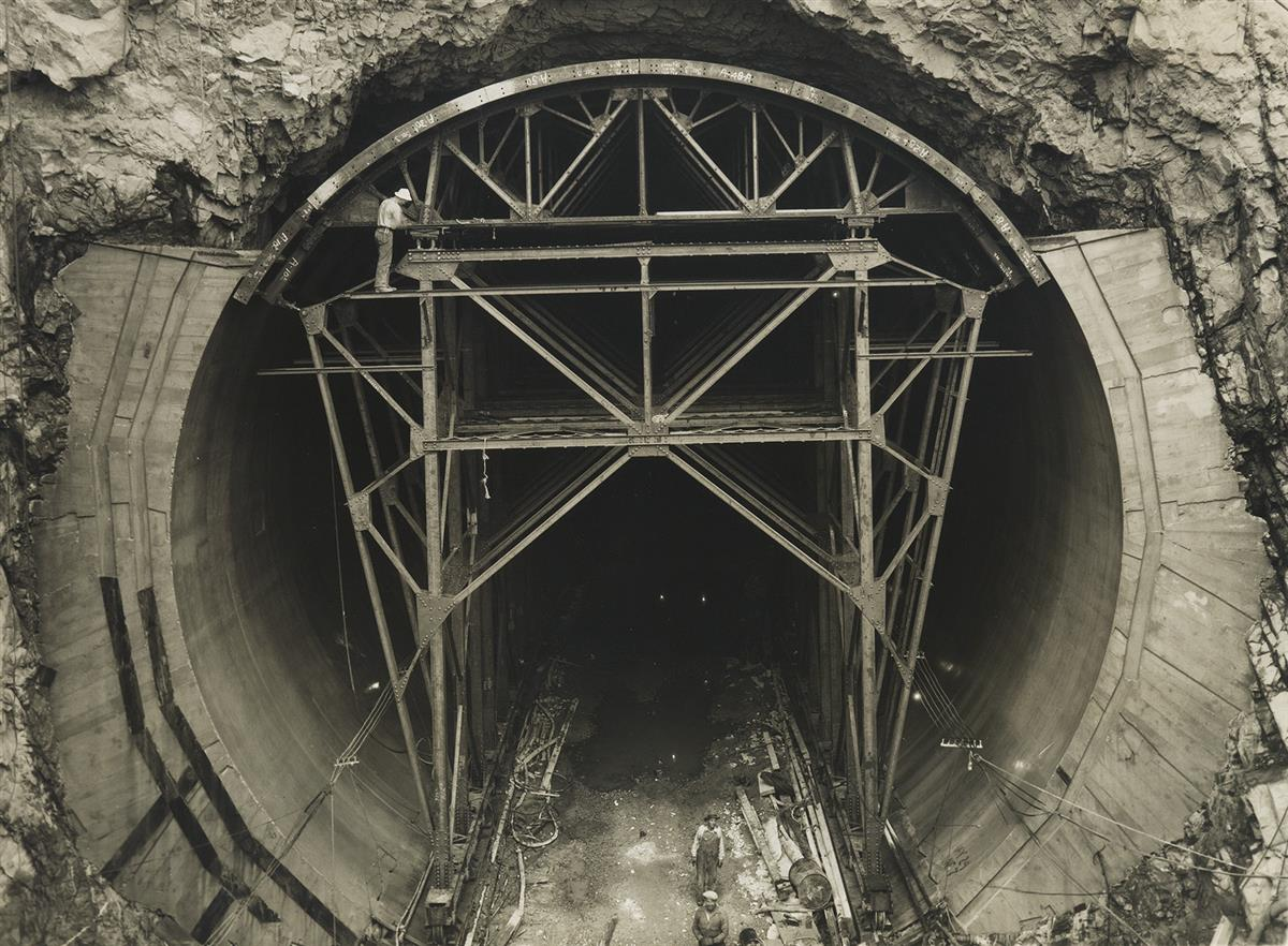 BEN GLAHA (1899-1970) Steel forms, Hoover (Boulder) Dam.